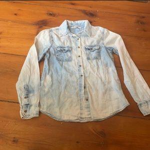 Vintage 90's Acid Wash Denim Shirt